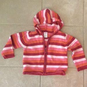 Baby Girl Hoodie Sweater 24 mo.